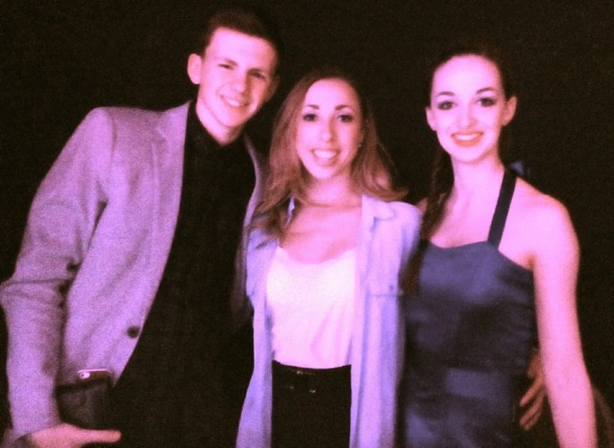 Lewis, Lauren and Lucy the ents staff at Cricke t ST Thomas