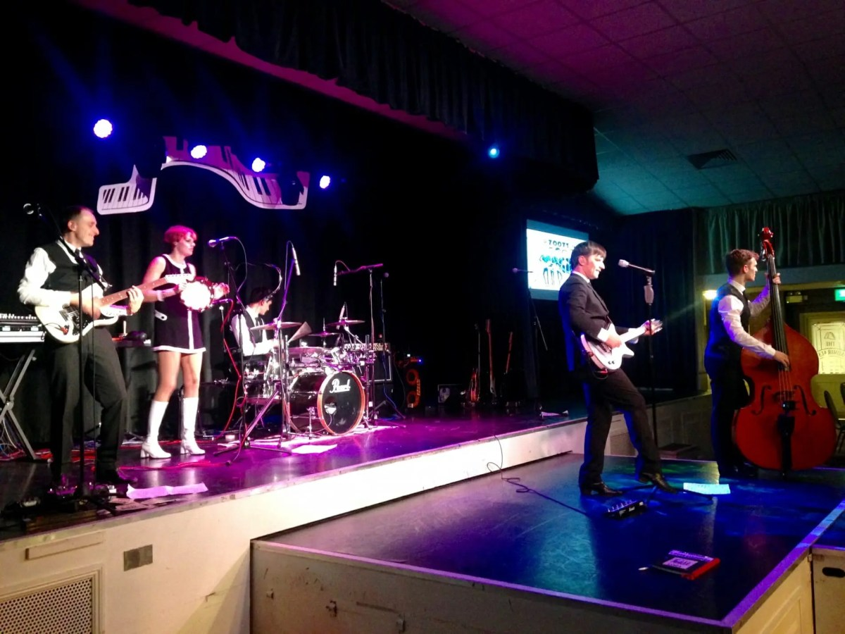 band in hants, band for hire in hampshire, The Zoots 1960s show in Hampshire, band for wedding hants