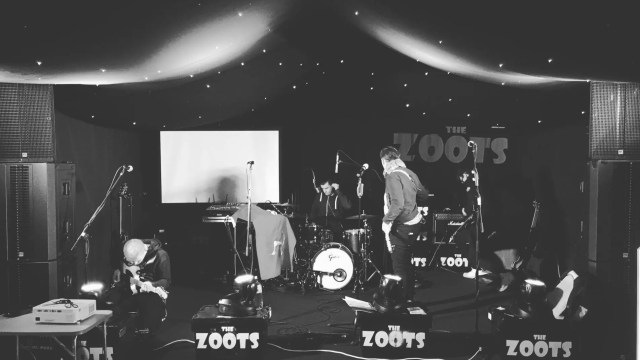 The Zoots, Zoots band, live music, sixties band, soundcheck, Jamie Goddard,