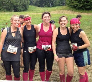 Ms. York with friends after completing the Tough Mudder race. Photo courtesty of Veronica York.