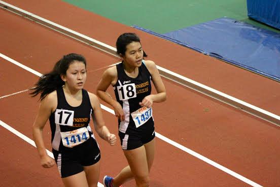 Freshman Eileen Jimenez race walks her way into sixth place. Photo courtesy of Jackson Loo.