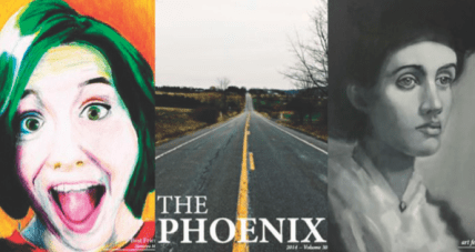 Student-produced art and photography taken from the Spring 2014 editition of the Phoenix.
