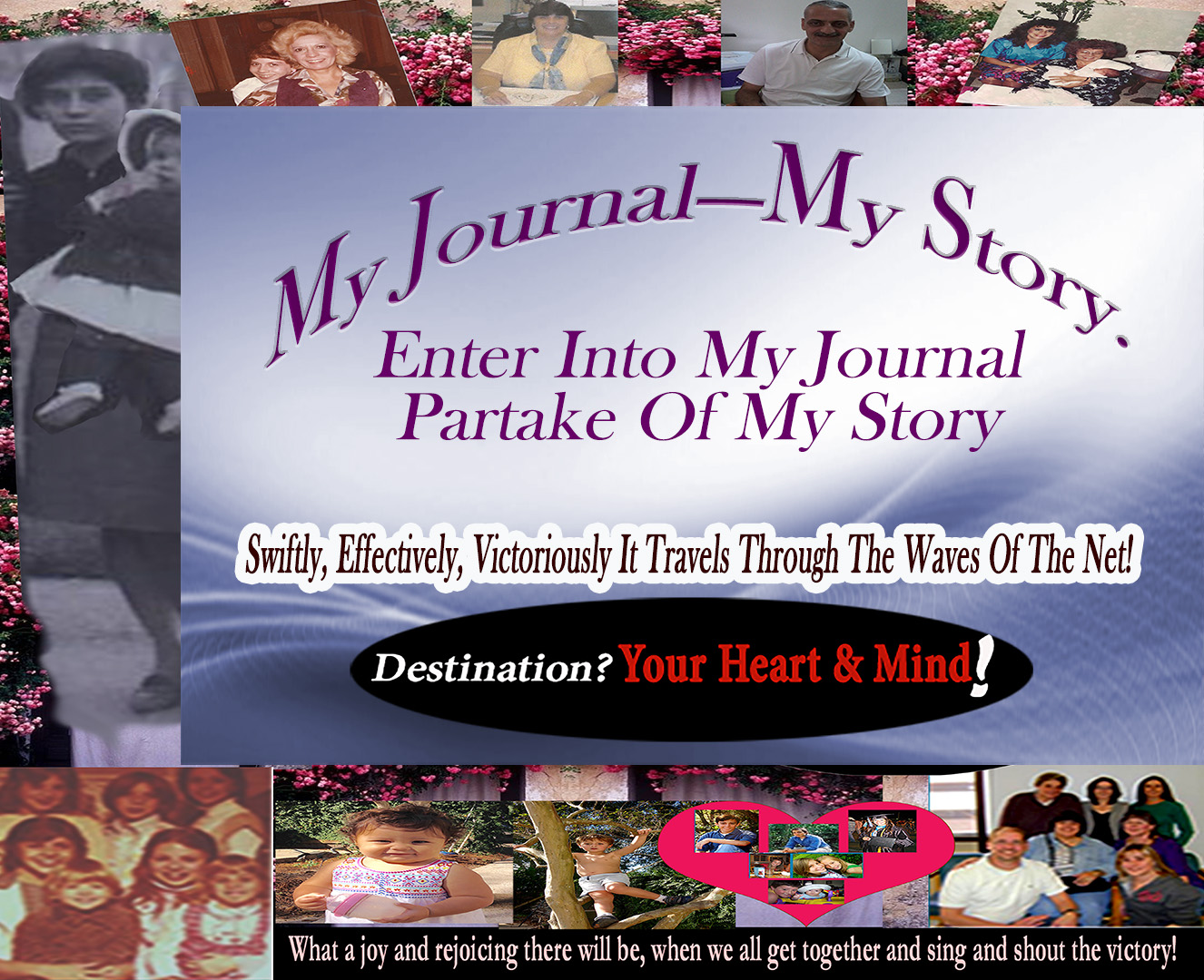A Graphic to promote My Journal_My life Swiftly travels on childrenBkrnd
