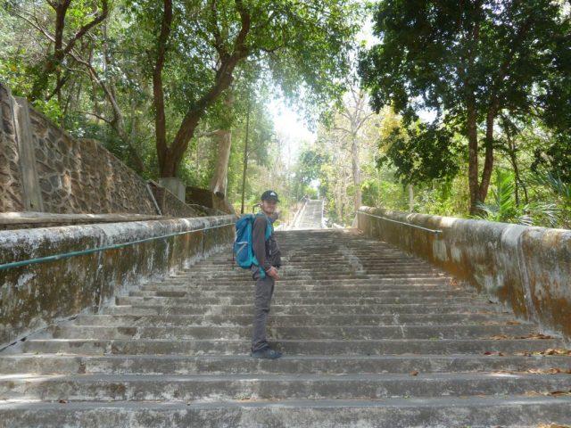 Grand escalier à Imogiri