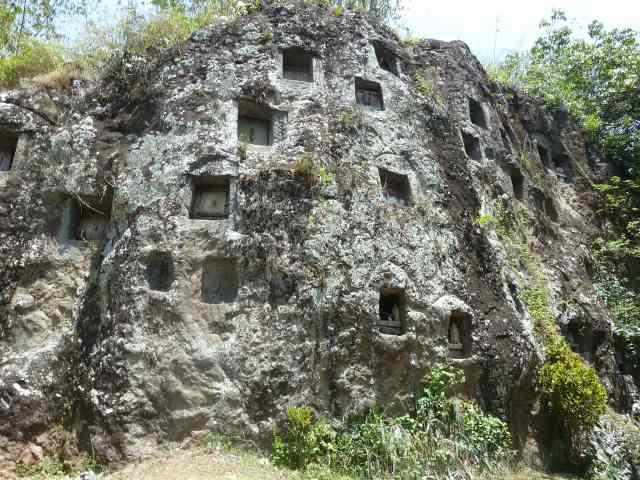 Falaise Lemo au pays Toraja