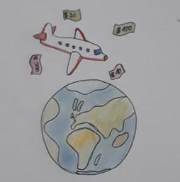 avion par dessus la Terre