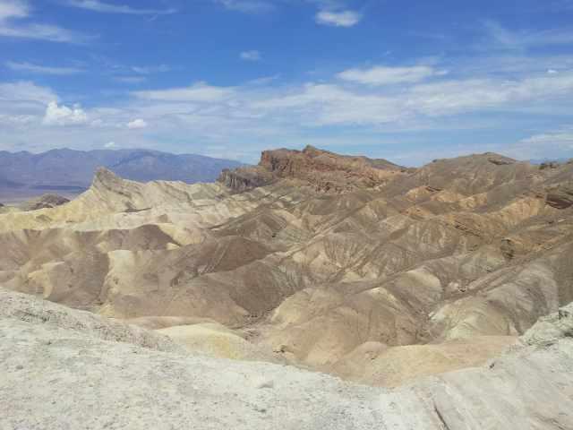 paysage sur la vallée de la mort en californie