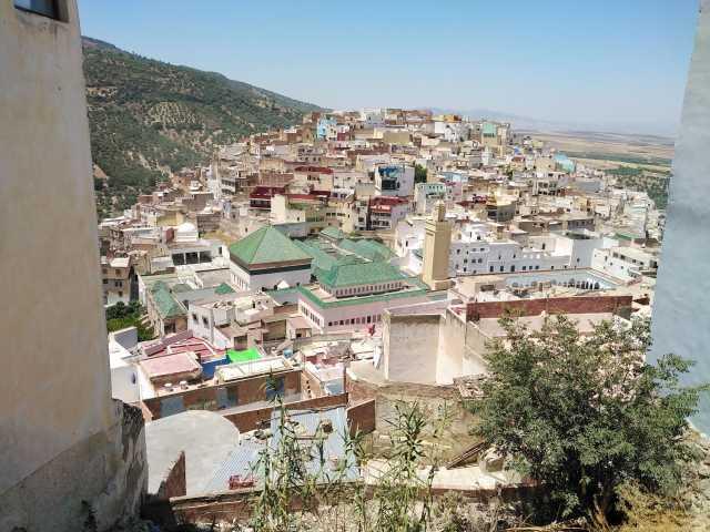 vue sur Moulay Idriss et le mausolée