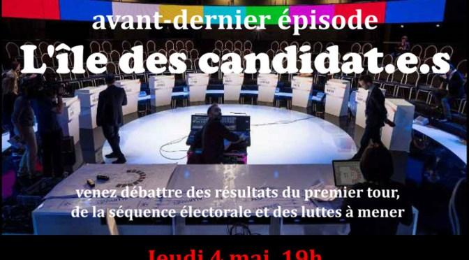 «L'île des candidat.e.s. Avant-dernier épisode», débat citoyen, Marseille, 4 mai 2017