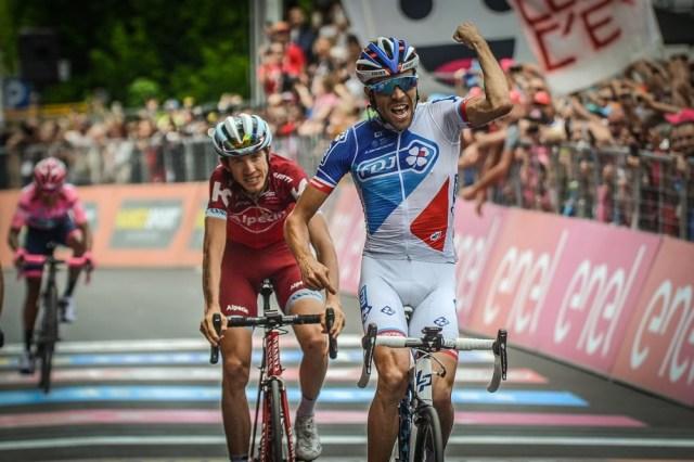 ジロ・デ・イタリア2017第20ステージ優勝のティボー・ピノ(エフデジ)