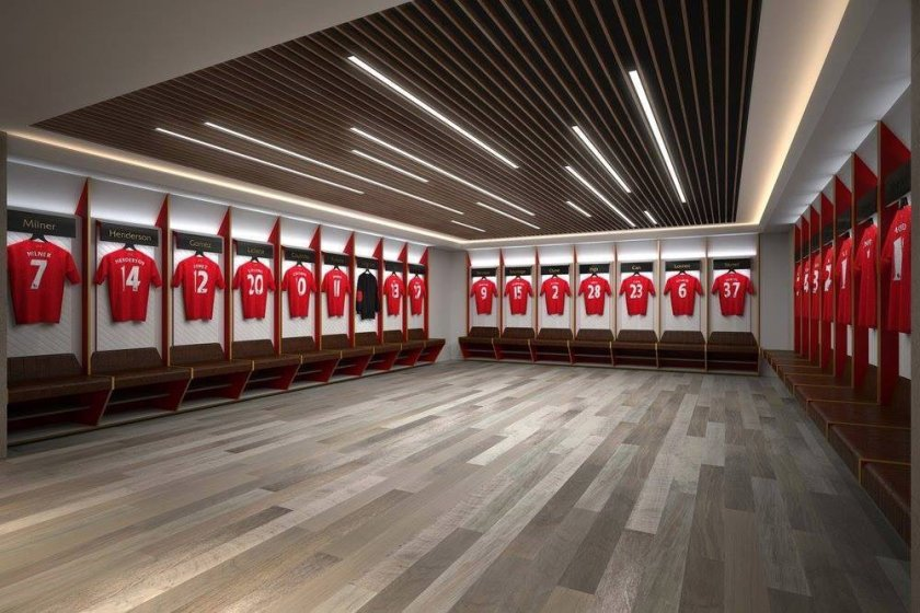 Liverpool Main Stand New Changing Rooms