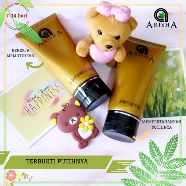 lotion pemutih kulit arisha skincare