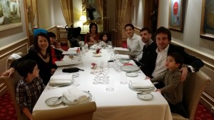 Private dining room at La Lameloise 3 start Michelin Restaurant in Burgundy