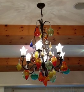 Colourful chandelier at the Sonnental Dubendorf