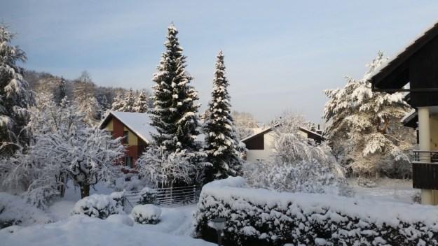 Snow in Zurich