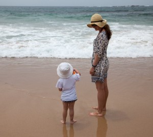 Mother and Daughter at the Beach in Sydney