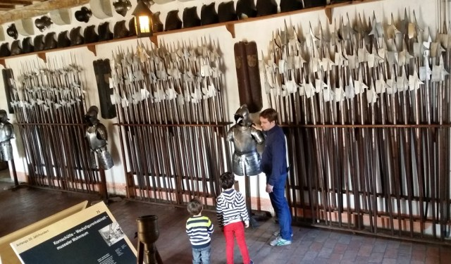 Weapon room at Kyburg Castle