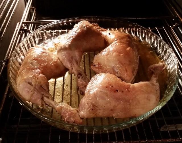 oven grilled chicken legs