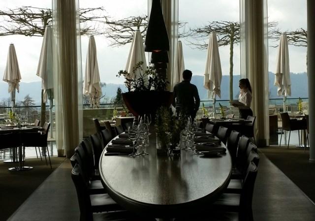 lunch at the Dolder Grand Garden Restaurant