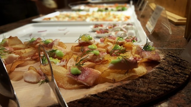 buffet and canapes