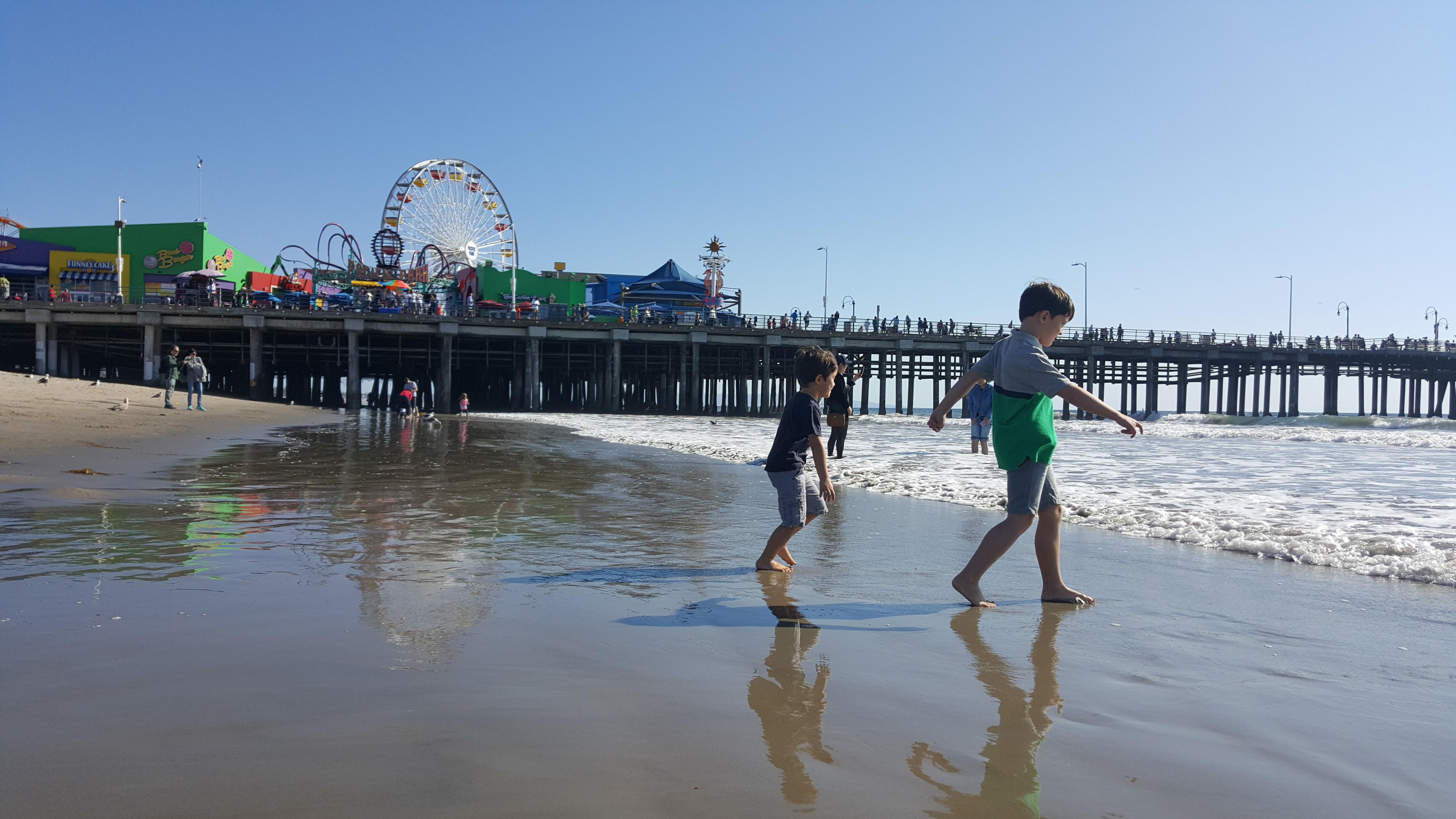 Santa Monica with children