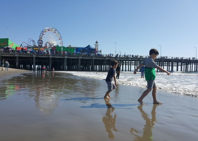 Santa Monica with children
