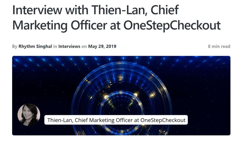 Thien Lan Weber interview with Zariance