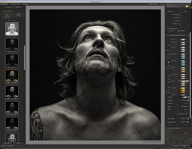 Black white and grey portraits with Nik Software Silver Efex Pro 2