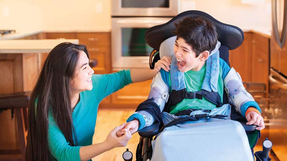 Disabled child image