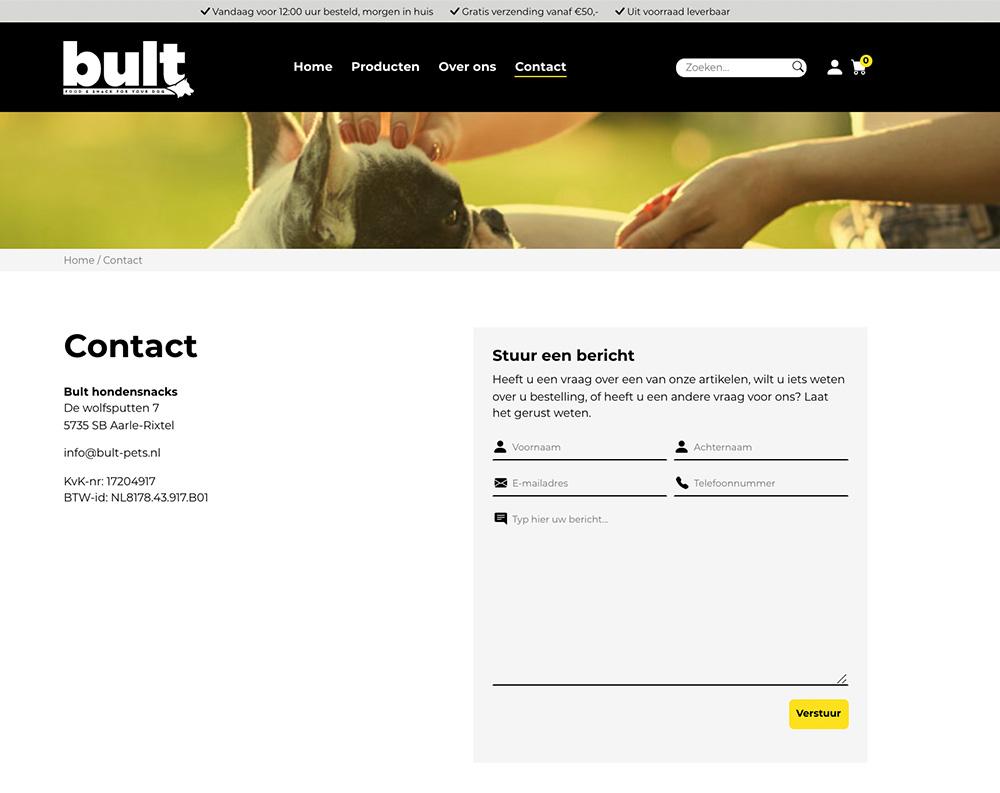 Nieuwe webshop Bult
