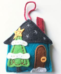 Sew Victoria Minerva Crafts Christmas house decoration
