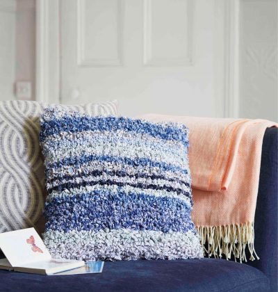 Rag rug cushion
