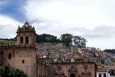 One wing of the Cusco Cathedral.