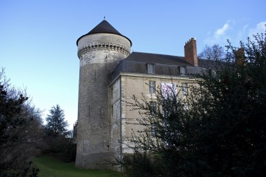 One of the rounded towers at Château de Chenonceau.
