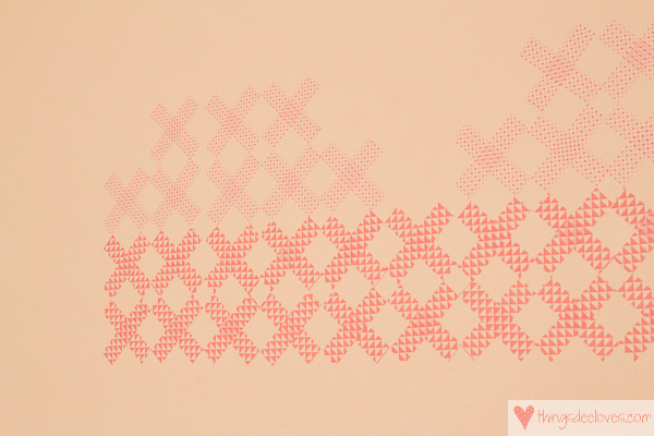 washi tape heart mural-5