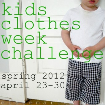Kids Clothes Week Challenge