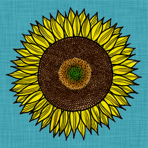 Sunflower-linen