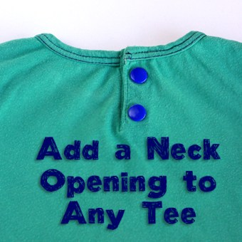 Adding a Neck Opening to a Tee – Tutorial
