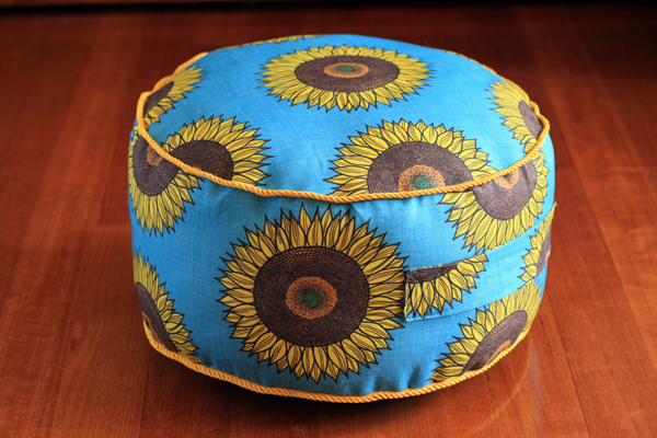 Sunflower floor cushion
