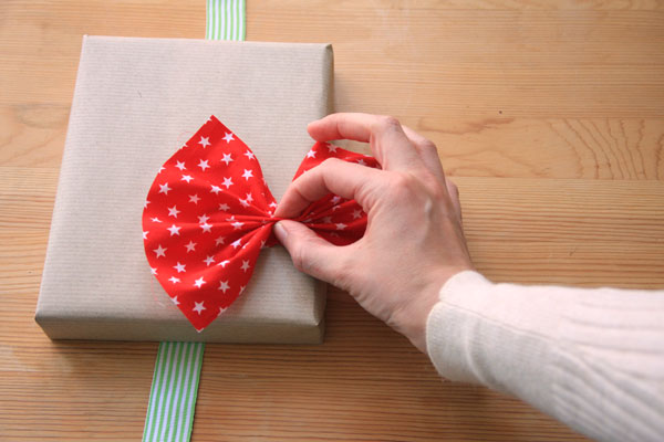 Fabric Scrap Gift Wrapping