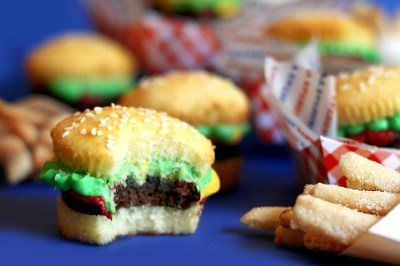 Cupcake Burgers and Cookie Fries
