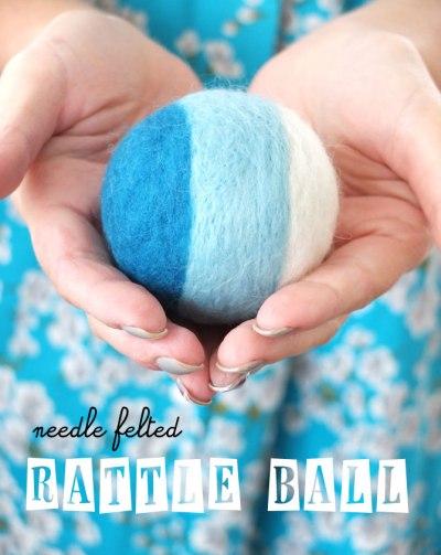 Needle Felted Rattle Ball