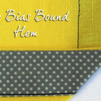 Sewing 101: Bound Hem – Tutorial