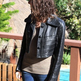 No Sew Leather Jacket Makeover