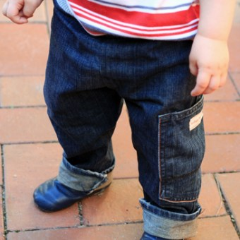 Toddler Jeans from Adult Jeans