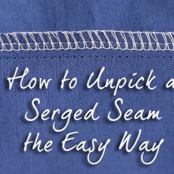 Unpick a Serged Seam the Easy Way