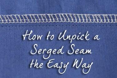 Unpick Serging