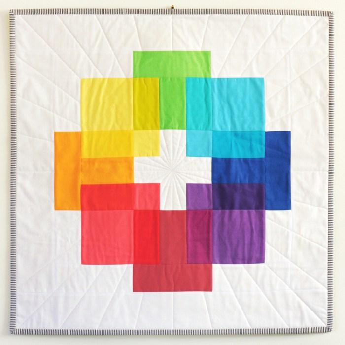 Rainbow Luminous Quilt