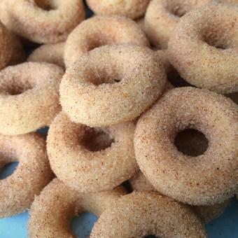 Mini Baked Cinnamon Donuts