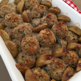 Baked Sage and Onion Stuffing Meatballs